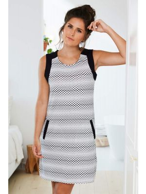 Mouwloos nachthemd zwart wit Pastunette Deluxe