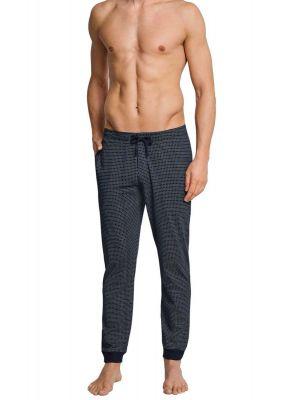 Blauwe ruitjes heren pyjamabroek Schiesser