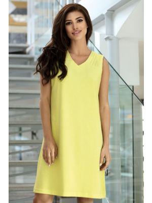 Comtessa geel badstof dames nachthemd