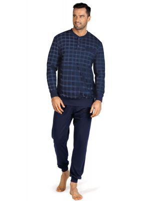 Blauw katoenen heren pyjama Comte