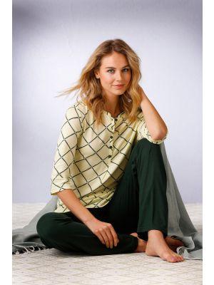 Dames pyjama Pastunette knoopjes
