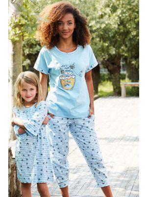 Licht blauwe pyjama korte mouw Rebelle
