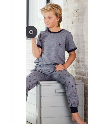 Jongens pyjama blauw Pastunette
