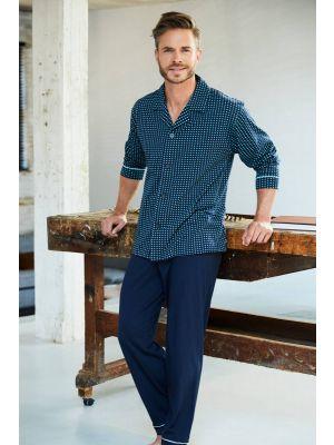Doorknoop tricot heren pyjama Robson