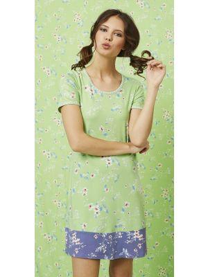 Licht groen Bloomy nachthemd