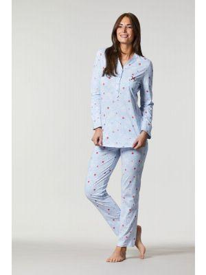 Blauwe met rode Ringella pyjama