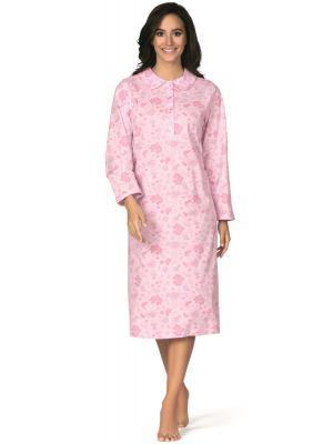 Roze Comtessa nachthemd bloemen