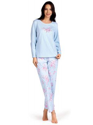 Blauw katoenen dames pyjama Comtessa