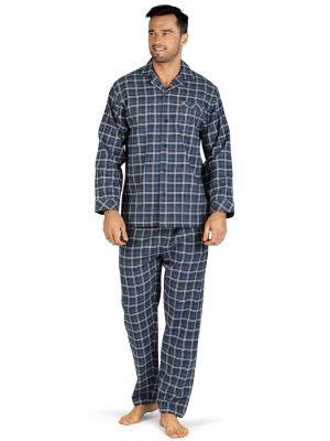 Doorknoop flanellen heren pyjama Comte