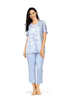 Dames pyjama met bloemenpatroon