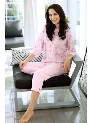 Klassieke roze dames pyjama