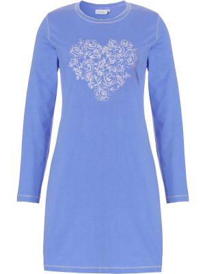 Nachthemd blauwe bloemenprint Pastunette