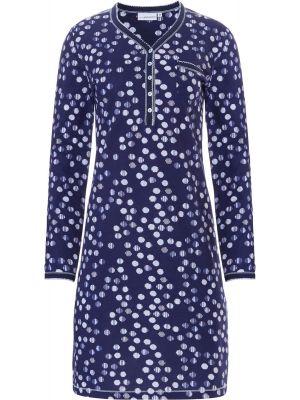 Dames nachthemd blauw katoen Pastunette