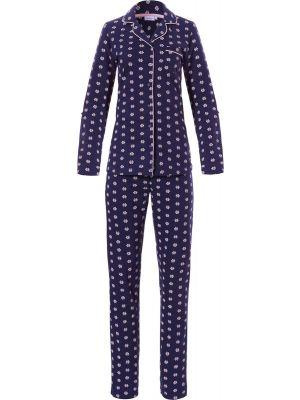 Sportieve doorknoop pyjama katoen Pastunette