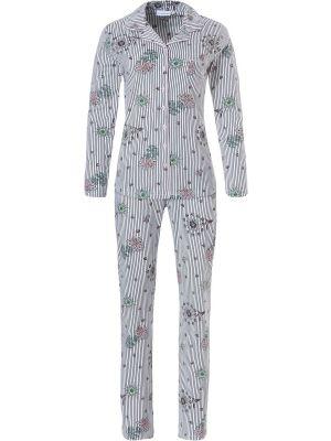 Doorknoop pyjama bloem Pastunette
