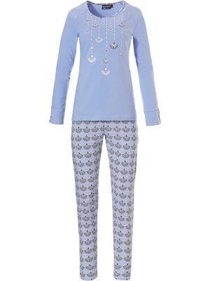 Blauwe dames pyjama Pastunette