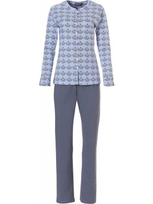 Pastunette katoenen dames pyjama blauw