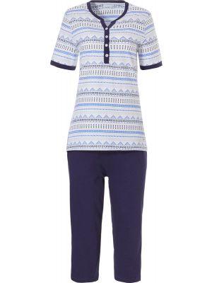 Blauwe pyjama korte mouw Pastunette