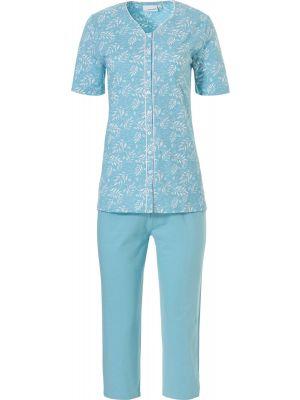 Dames doorknoop pyjama korte mouw Pastunette