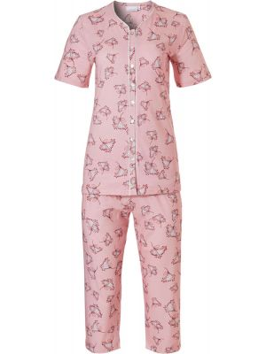 Dames pyjama doorknoop Pastunette