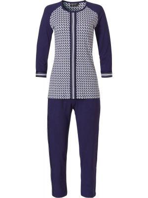 Blauwe pyjama Pastunette driekwart mouw