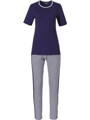 Blauwe pyjama Pastunette korte mouw