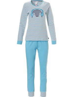 Sportief gestreepte winter pyjama Rebelle