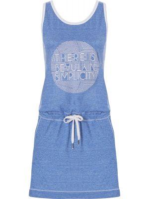 Mouwloos sportief blauw nachthemd Rebelle