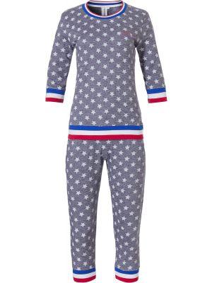 Dames pyjama sportief blauw