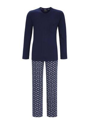 Blauwe heren pyjama Ringella hond