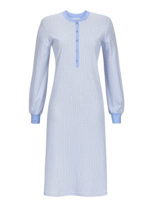 Ringella nachthemd blauw patroon