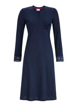 Blauw Ringella nachthemd met kant