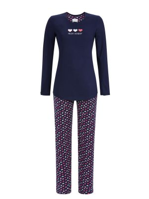 Blauwe dames pyjama Ringella Mon Coeur