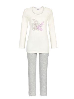 Ringella pyjama gebroken wit