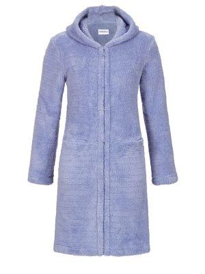 Blauwe Ringella badjas met capuchon