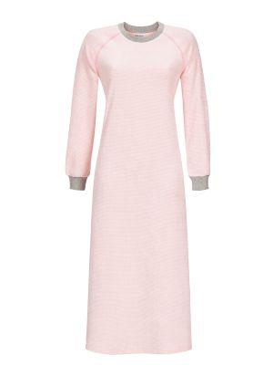 Lang roze badstof nachthemd Ringella