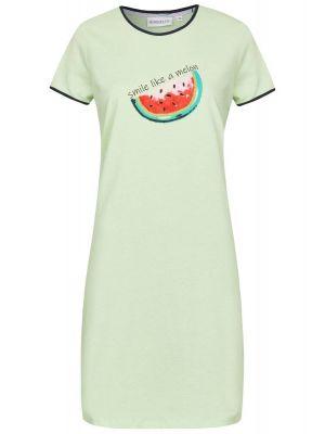 Licht groen Ringella nachthemd meloen