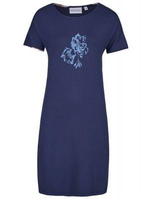Blauw Ringella nachthemd bloem
