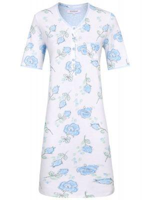 Blauwe rozen nachthemd Ringella