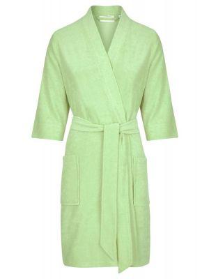 Groene dames badjas driekwart mouwen