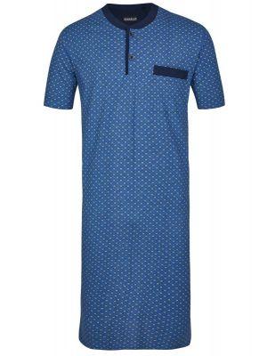 Blauw heren nachthemd Ringella