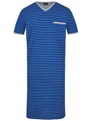 Blauw gestreept herennachthemd Ringella