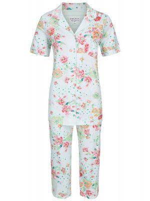 Fleurige bloemen pyjama met knopen