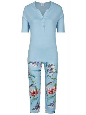 Dames pyjama Caribische bloemen