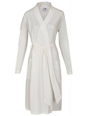 Elegante witte dames badjas Ringella