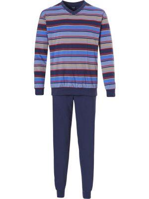 Katoenen heren pyjama blauw Robson