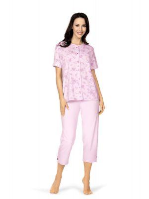 Klassieke doorknoop dames pyjama