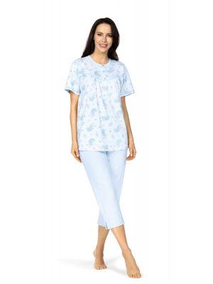 Klassieke blauwe dames pyjama