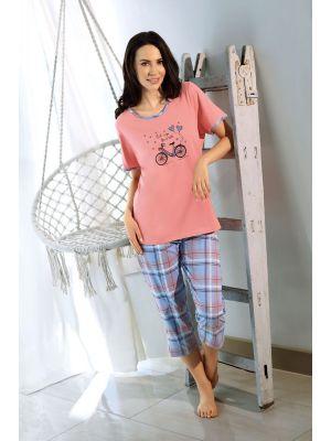 Flamingo roze dames pyjama