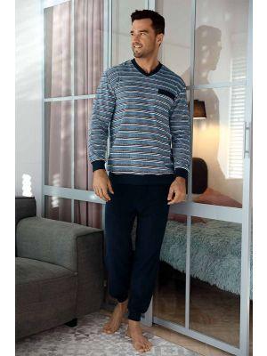 Heren pyjama badstof Comte
